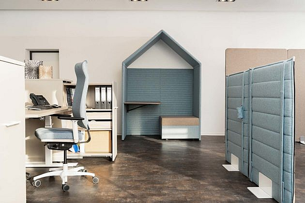 gesund arbeiten gmbh - Akustische Raumteiler