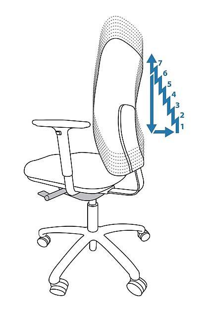 Bürostuhl Anpassung - Höhenverstellung der Rückenlehne